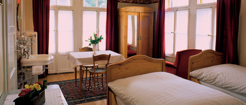 Hotel Falken, Wengen, Bernese Oberland, Switzerland - twin bedroom interior.jpg